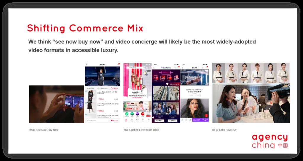 Shifting commerce mix - Affordable Luxury Market China